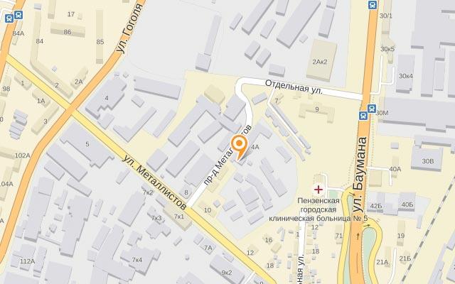 Карта расположения - Контакты компании Энергомеханика-М